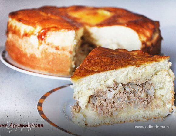 Пирог с фаршем в мультиварке без дрожжей рецепты с фото
