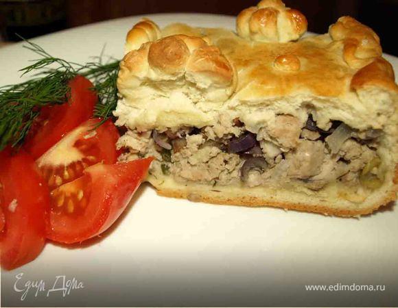 Пирог со свининой рецепт фото