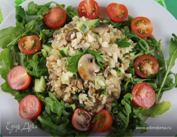 Рецепт салат с грибами пошагово