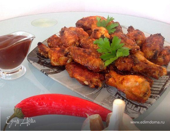 рецепт куриные крылья острые