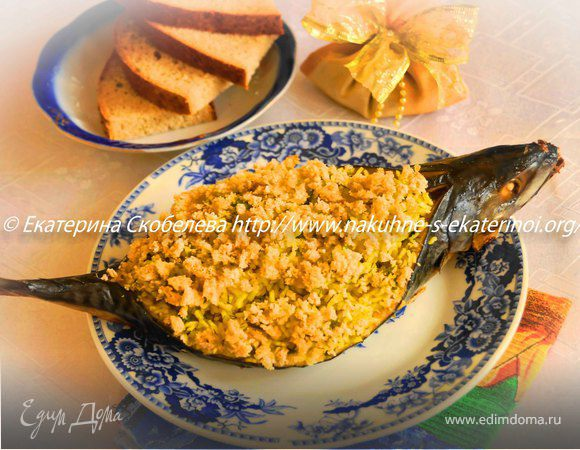 Скумбрия фаршированная яйцом рецепт фото