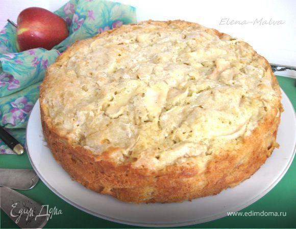 Шарлотка с яблоками рецепт в духовке высоцкая