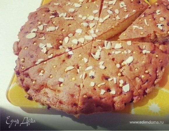 Пирог с черной смородиной от юлии высоцкой
