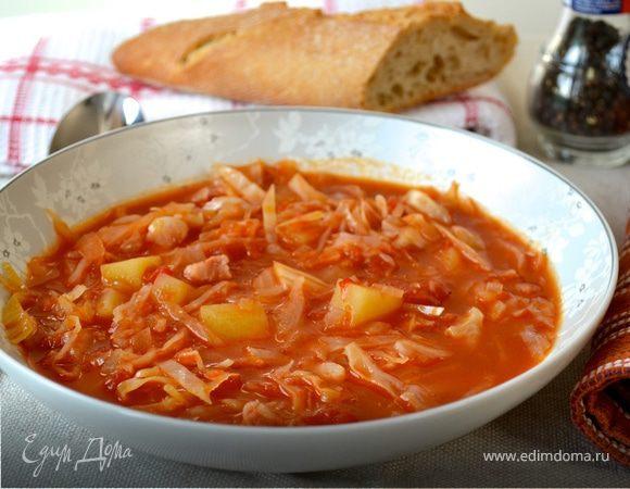 Сырный суп с свининой рецепт с фото