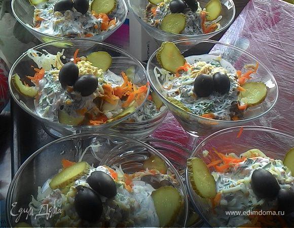 салат из тунца с яйцами рецепт с фото