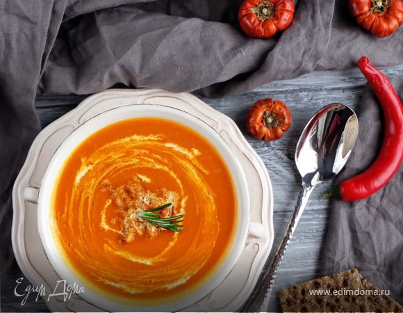 Суп пюре из тыквы со сливочным сыром