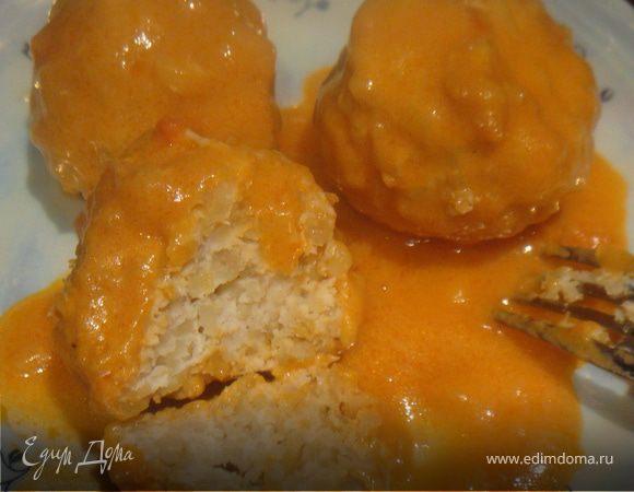 Тефтели с рисом и с подливкой  пошаговый рецепт с фото