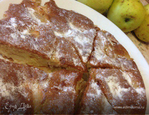 Пирог с яблоками рецепт с пошагово в духовке от юлии высоцкой