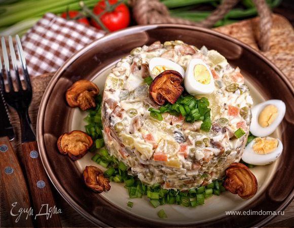 Оливье постный с грибами рецепт