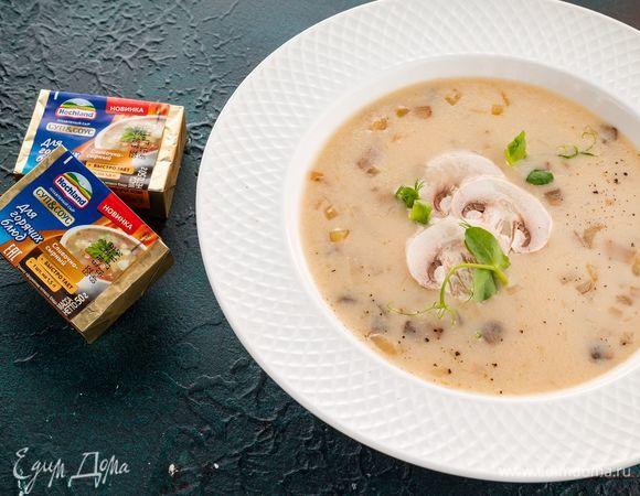 Сырный суп с грибами рецепт с фото пошагово